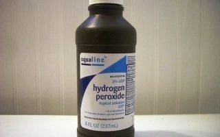 Удаление перекисью водорода папилломы