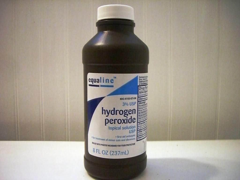 Лечение папиллом перекисью водорода